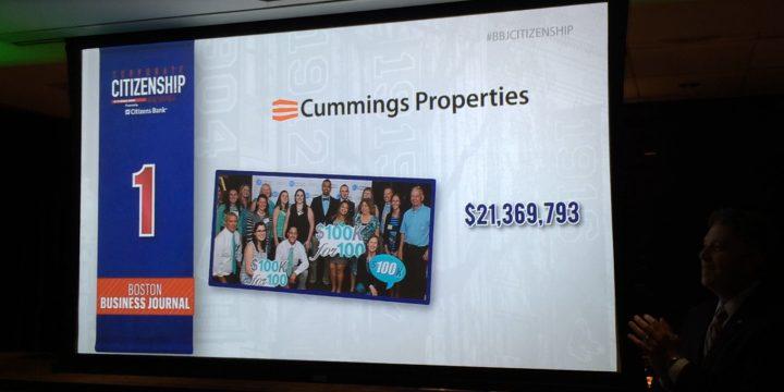 Cummings named Top Charitable Contributor in Massachusetts