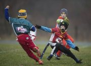 Children Playing Flag Football
