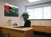 empty office with black chair